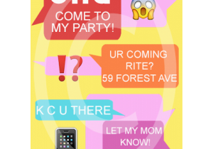 Invitation To Birthday Party Text Message Invite For 7 00 Invitations