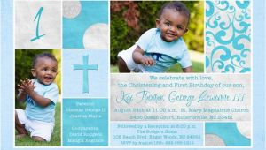 Invitation Wording for 1st Birthday and Baptism First Birthday and Baptism Invitations Dolanpedia