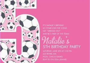 Invitation Wording For 5th Birthday Girl 5th Birthday Party