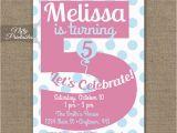 Invitation Wording for 5th Birthday Girl 5th Birthday Invitations Printable Fifth Birthday Invitation