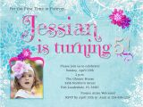 Invitation Wording for 5th Birthday Girl 5th Birthday Party Invitation Wording Cimvitation