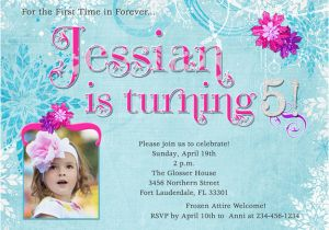 Invitation Wording For 5th Birthday Girl Party Cimvitation