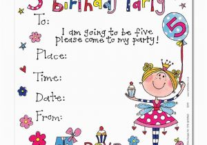 Invitation Wording For 5th Birthday Girl Party Invitations Best Ideas