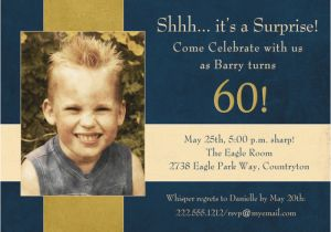 Invitation Wording For 60th Birthday Surprise Party Free 60 Template