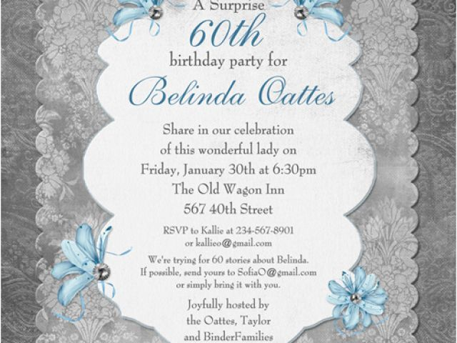 Download By SizeHandphone Tablet Desktop Original Size Back To Invitation Wording For 60th Birthday Surprise Party
