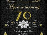 Invitation Wording for 70th Birthday Surprise Party 70th Birthday Invitation Gold Glitter Birthday Party