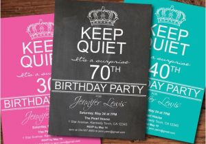 Invitation Wording For 70th Birthday Surprise Party Adult 80th