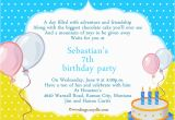 Invitation Words for Birthday Party 7th Birthday Invitation orderecigsjuice Info