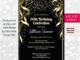 Invitations 60th Birthday Celebration 60th Birthday Invitation 60th Birthday Party Invitation 60th
