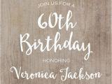 Invitations 60th Birthday Celebration 60th Birthday Invitation Printable Rustic by