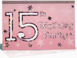 Invitations for 15 Birthday Party 15th Birthday Party Invitations A Birthday Cake