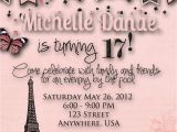 Invitations for 15 Birthday Party Paris theme Birthday Party Invitation by Decidedlydigital