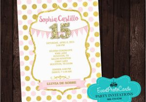 Invitations For 15 Birthday Party Polka Princess Sweet