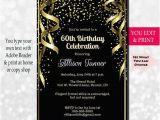 Invitations for 60 Birthday Party 60th Birthday Invitation 60th Birthday Party Invitation 60th