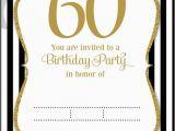 Invitations for 60 Birthday Party Free Printable 60th Birthday Invitation Templates Free