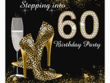 Invitations for 60 Birthday Party Stepping Into 60 Birthday Party Invitation Zazzle