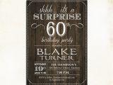 Invitations for 60 Birthday Party Surprise 60th Birthday Invitation Any Age Rustic Invite