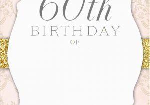 Invitations For 60th Birthday Party Templates Free Printable Invitation