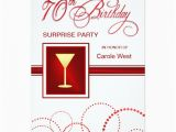 Invitations for 70th Birthday Surprise Party 70th Birthday Surprise Party Invitations Red Zazzle