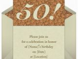 Invitations for A 50th Birthday Party 50th Birthday Invitation