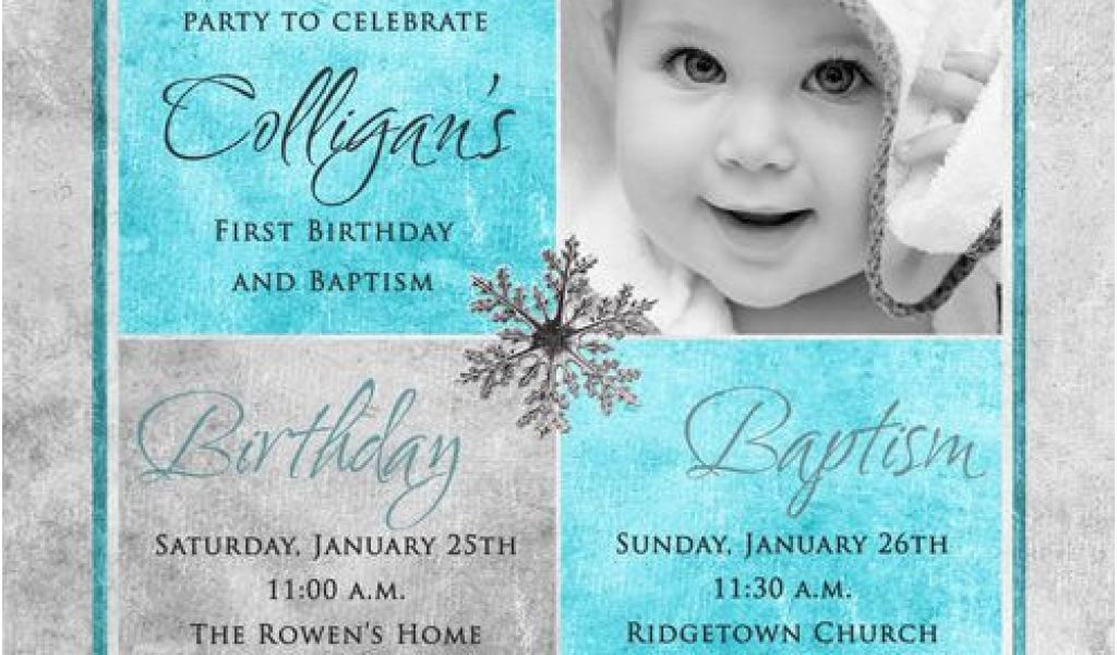 Invitations For Baptism And 1st Birthday Together