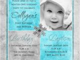 Invitations for Baptism and 1st Birthday together 1st Birthday and Christening Baptism Invitation Sample