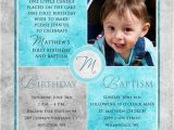 Invitations for Baptism and 1st Birthday together Free Printable First Birthday and Baptism Invitation