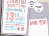 Invitations for Teenage Girl Birthday Party Items Similar to Birthday Party Invitation for Teenage