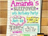 Invitations for Teenage Girl Birthday Party Sleepover Invitation Doodle Teen Notebook Sleepover