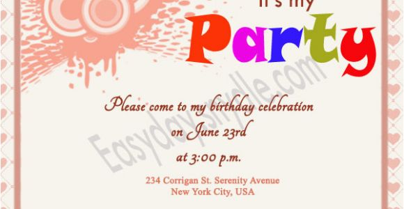 Invite to Birthday Party Wording Birthday Invitation Wording Easyday