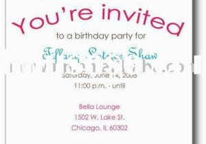 Invite to Birthday Party Wording Birthday Invites Awesome Party Invitations Wording