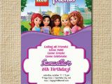 Inviting Friends for Birthday Party Lego Friends Birthday Invitation Lego Birthday by