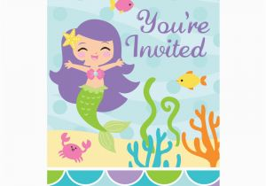 Inviting Friends for Birthday Party Mermaid Friends Birthday Party Invitations 8 Count