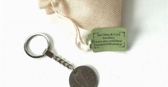 Irish Birthday Gifts for Him 22nd Birthday Gift Gift for Him Irish Coin Keychain Rare