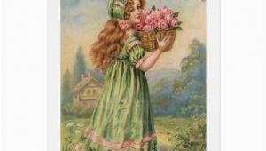 Irish Birthday Girl Victorian Irish Girl Birthday Card Zazzle