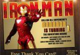 Iron Man Birthday Party Invitations Iron Man Birthday Invitations Best Party Ideas