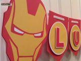 Iron Man Happy Birthday Banner Custom Iron Man Party Banner