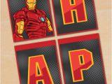 Iron Man Happy Birthday Banner Free Printable Iron Man Birthday Banner