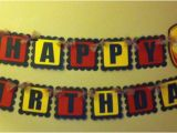 Iron Man Happy Birthday Banner Iron Man Inspired Happy Birthday Banner by Paperpiecingdreams