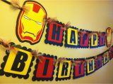 Iron Man Happy Birthday Banner Iron Man Inspired Happy Birthday Banner