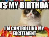It S My Cat S Birthday Meme Its My Birthday Grumpy Cat Birthday Meme On Memegen