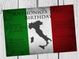 Italian Birthday Party Invitations Italian Birthday Party Invitation Celebrate Any Birthday