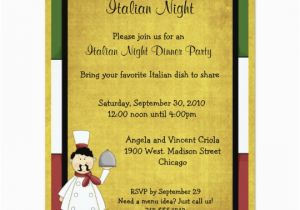 Italian Birthday Party Invitations Italian Night Dinner Party Invitation Zazzle Com