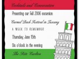 Italian Birthday Party Invitations Italian Party Invitation Templates