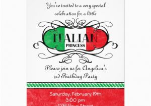 Italian Birthday Party Invitations Italian Princess Party Invitation Zazzle