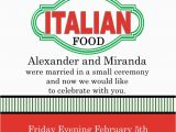 Italian Birthday Party Invitations Italian theme Party Invitations New Selections Winter 2018