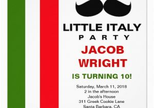 Italian Birthday Party Invitations Personalized Italian Invitations Custominvitations4u Com