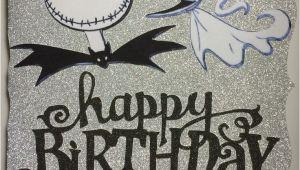 Jack Skellington Birthday Card Happy Birthday Jack Skellington Card Homemade Cards
