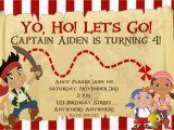 Jake and the Neverland Pirate Birthday Invitations Jake and the Neverland Pirates Birthday Invitation
