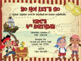 Jake and the Neverland Pirate Birthday Invitations Jake and the Neverland Pirates Birthday Invitations Jake